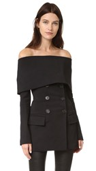 Yigal Azrouel Tech Cape Blazer Black