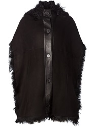 Sonia Rykiel Shearling Cape Black