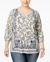 Styleandco. Style Co. Plus Size Handkerchief Print Top Only At Macy's Scarf Dream Sand