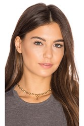 Vanessa Mooney Celeste Choker Metallic Gold