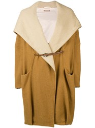 Nehera Oversized Hooded Coat Nude And Neutrals