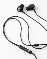 Bergdorf Goodman Marshall Mode Eq Earphones Black Brass