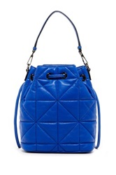 Milly Avery Convertible Leather Backpack Blue