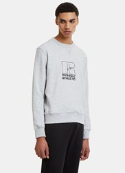 Russell Athletic Embroidered Logo Crew Neck Sweater Grey
