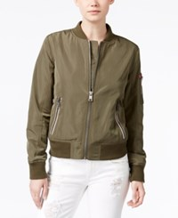 Levi's Zip Detail Bomber Jacket Army Green