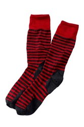 Smartwool Stria Striped Crew Socks Red