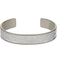 Aspinal Of London Cleopatra Skinny Crinkled Inlay Cuff Bangle S Silver