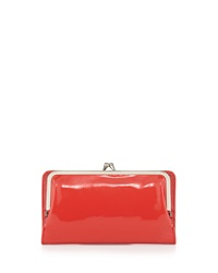 Hobo Diane Patent Leather Continental Wallet Poppy