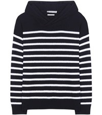 Vince Striped Cashmere Sweater Blue
