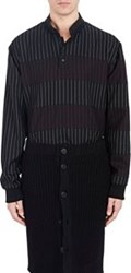 Givenchy Mixed Pinstripe Henley Tunic Red
