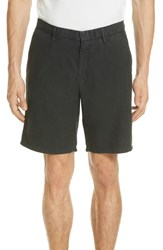 Vilebrequin Panama Linen And Cotton Chino Shorts Squid Ink