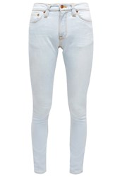 Nudie Jeans Pipe Led Slim Fit Jeans Pillar White Bleached Denim