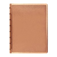 Filofax A5 Saffiano Metallic Notebook Rose Gold