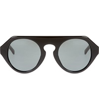 Prabal Gurung Black Acetate Sunglasses
