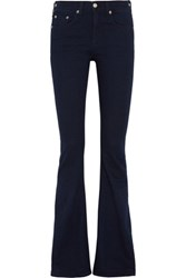 Rag And Bone Beckett Mid Rise Flared Jeans Dark Denim