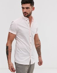 River Island Muscle Fit Shirt In Pink