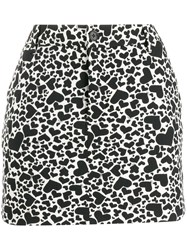 Zadig And Voltaire Heart Print Mini Skirt 60