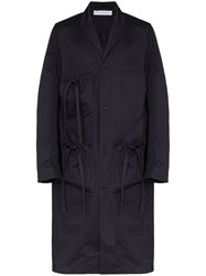 J.W.Anderson Jw Anderson Multi Pocket Mid Length Overcoat Blue
