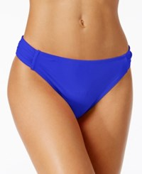 California Waves Side Tab Cheeky Bikini Bottoms Women's Swimsuit Laser Blue