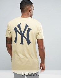 Majestic New York Yankees Longline T Shirt Exclusive To Asos Stone
