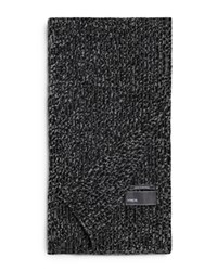 Vince Ribbed Marl Cashmere Scarf Black Combo