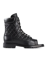 Balmain Quilted Boots Black