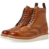 Grenson Fred V Brogue Boot Brown