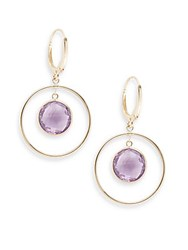 Saks Fifth Avenue Amethyst And 14K Yellow Gold Circle Drop Earrings