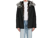 Army By Yves Salomon Women's Cotton Hooded Parka And Fur Liner Coat Black