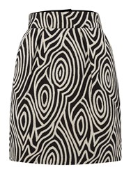 Hoss Intropia Mono Pattern Mini Skirt Black