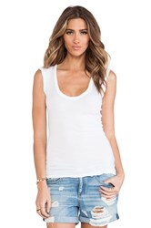 Velvet By Graham And Spencer Estina Gauzy Whisper Classics Tank White