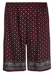 Alexander Mcqueen Casual Printed Shorts Red