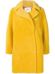 Bally Double Breasted Midi Coat Yellow