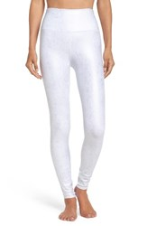 Alo Yoga Women's Airbrush High Waist Leggings Slate Metallic White