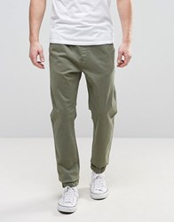 Blend Of America Elasticated Waist And Cuff Chino 77196 Jungle Green