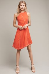 Anthropologie Asymmetrical Bileu Dress Bright Red