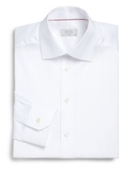 Eton Of Sweden Slim Fit Solid Twill Dress Shirt White