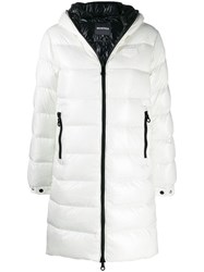 Duvetica Padded Hooded Coat White