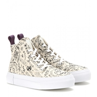 Eytys Odyssey Canvas High Top Sneakers Kiev Cream