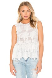 Twelfth St. By Cynthia Vincent Ruffle Shell Top Beige