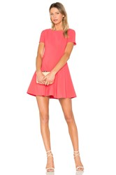Halston Fit And Flare Dress Fuchsia