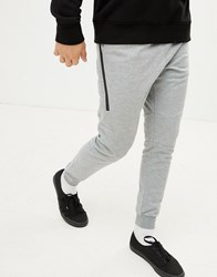 Your Turn Yourturn Jogger In Grey With Cuffed Hem