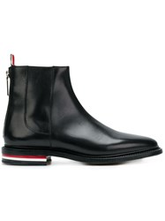 Thom Browne Fitted Zip Up Chelsea Boot Black