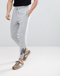 New Balance Heather Joggers In Grey Mp81507_Ag
