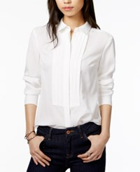 Tommy Hilfiger Tuxedo Shirt Only At Macy's Ivory