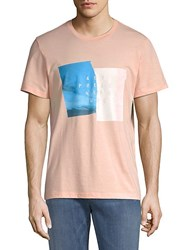 7 For All Mankind Present Cotton Tee Pink