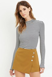 Forever 21 Contemporary Asymmetrical Skort Light Olive