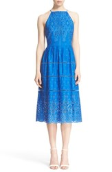 Women's Parker 'Alana' Eyelet Embroidered Cotton Fit And Flare Dress