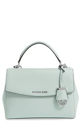 Michael Michael Kors 'Small Ava' Saffiano Leather Satchel Green Celadon Silver