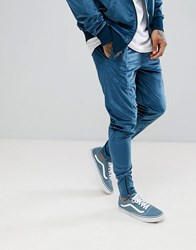 Fairplay Velour Joggers With Zip Leg Opening In Slim Fit Stone